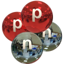 alpha particle, red and water, with p and n