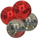 alpha particle, red and diamond, with p and n