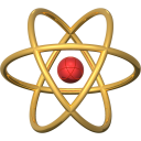 atom image 128 px gold
